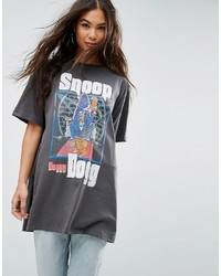 Asos Oversized T  Shirt With Snoop Dog Print