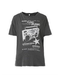 R 13 R13 Punk Print T Shirt