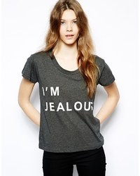 Sauce Im Jealous Basic T Shirt Gray