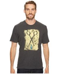 Robert Graham Scissors Short Sleeve Knit Graphic T Shirt T Shirt