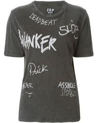 Slogan print t shirt medium 130013