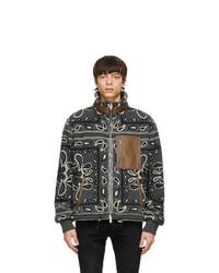 Amiri Grey Fleece Bandana Jacket