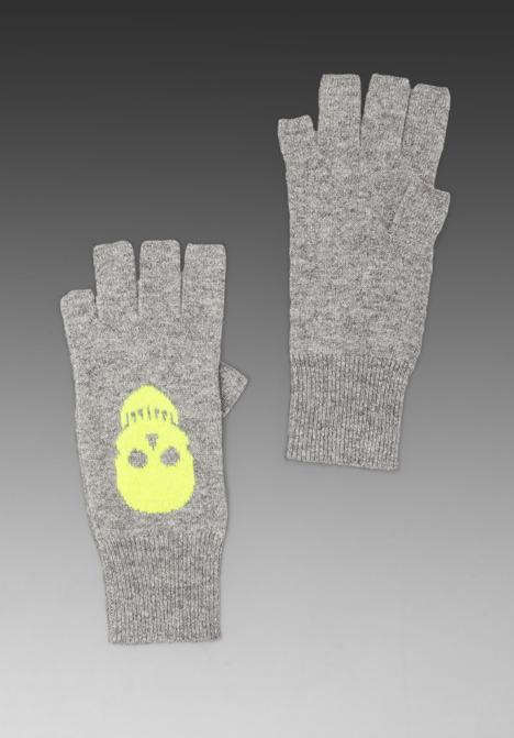 Autumn Cashmere Skull Fingerless Gloves