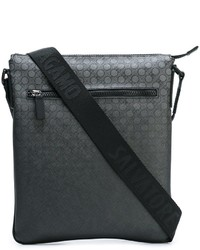 Charcoal Print Leather Crossbody Bag