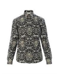 Charcoal Print Long Sleeve Shirt