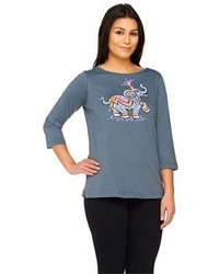 S printed elephant t shirt medium 146015