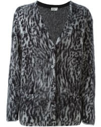 4246d312496 Saint Laurent Leopard Print Cardigan