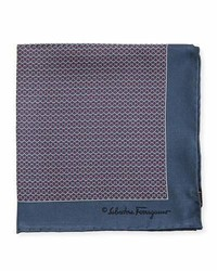 Salvatore Ferragamo Party Gancini Print Pocket Square