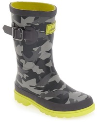 Joules Boys Welly Print Waterproof Rain Boot