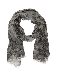 John Varvatos Butterfly Printed Modal Scarf
