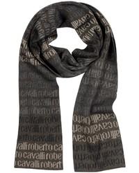 Roberto Cavalli Signature Print Wool Blend Scarf