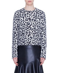 Akris Punto Leopard Print Crepe Jacket