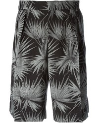 MSGM Palm Tree Print Shorts