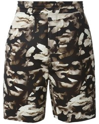 Neil Barrett Abstract Bust Print Shorts