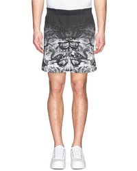 Nobrand Snake Print Cotton Twill Shorts