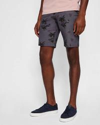 Tropical print cotton city shorts medium 6992959