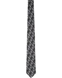 Fendi Black Silk Forever Tie