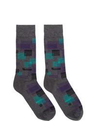 BOSS Grey Square Socks
