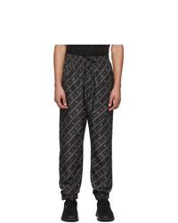 Fendi Black Stripe Karligraphy Track Pants