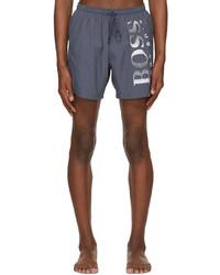 BOSS Grey Octopus Swim Shorts