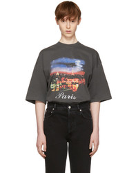 Balenciaga Grey Paris T Shirt