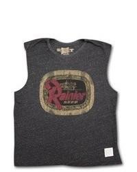 Rainier Retro Vintage Charcoal Sleeveless Tank T Shirt