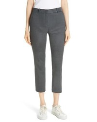 Theory Treeca Shadow Jacquard Slim Crop Pants