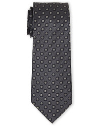 English Laundry Dark Charcoal Floral Silk Tie