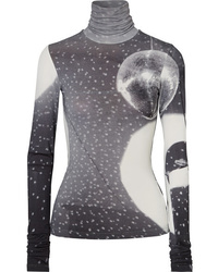 MM6 MAISON MARGIELA Printed Stretch Jersey Turtleneck Top