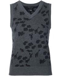 Marc Jacobs Animal Intarsia Vest
