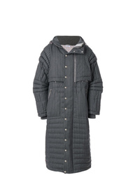 Thom Browne Articulated Chalk Striped Down Fill Parka