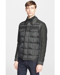Moncler Blais Mixed Media Down Jacket