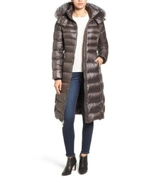 Andrew Marc Down Coat With Genuine Fox Fur Trim