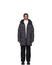 Stone Island Grey Down Puffer Coat