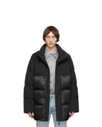 Acne Studios Acne S Black Down Contrast Jacket
