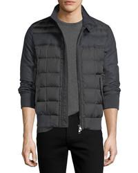 Moncler Aramis Wool Paneled Nylon Puffer Jacket
