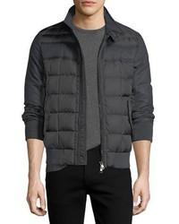 53542d4920b7 ... Moncler Aramis Wool Paneled Nylon Puffer Jacket