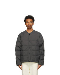 Jil Sander Grey Down Insulator Jacket