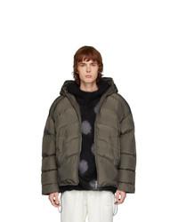 Random Identities Grey Duvet Jacket
