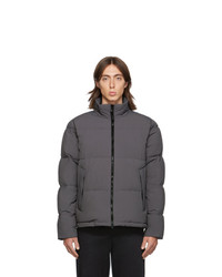 The Very Warm Grey Quilted Puffer Jacket