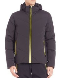 Fendi Piped Solid Puffer Jacket