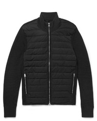 Tom Ford Slim Fit Ribbed Merino Wool And Quilted Shell Down Jacket
