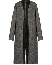 Haider Ackermann Ladouche Hounds Tooth Quilted Wool Coat