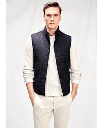 Mango Quilted Lining Knit Gilet
