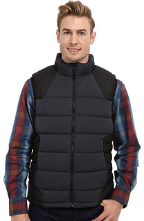 Charcoal Quilted Gilet Robert Graham Stratford Woven