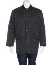 Charcoal Quilted Overcoat