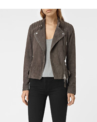 Allsaints kerr suede biker jacket medium 838165