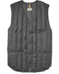 Charcoal Quilted Wool Gilet