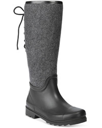 Nine West Oops Back Lace Up Rain Boots