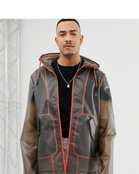 ASOS DESIGN Tall Transparent Windbreaker With Contrast Neon Taping
